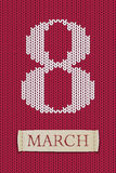 8 marsch på ärmlös tröjatextur Lyckliga kvinnas dag! vektor illustrationer