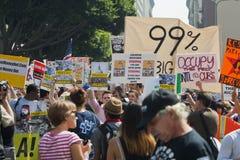 marschen för los för angeles demonstrantla upptar Royaltyfri Foto