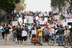 marschen för los för angeles demonstrantla upptar Royaltyfri Bild
