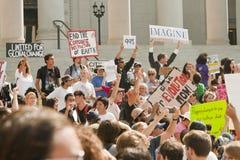 marschen för los för angeles demonstrantla upptar Arkivbild