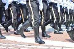 marschera polisenhet Arkivbilder