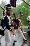Marschera soldater Royaltyfria Bilder