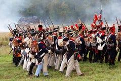 Marschera soldater. Royaltyfri Fotografi