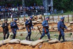 Marschera soldater Arkivbild