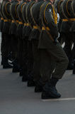 Marschera soldater Arkivfoton
