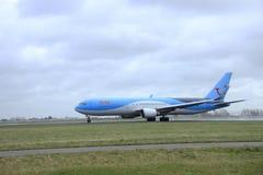 Marschera 27th 2015, den Amsterdam Schiphol flygplatsen PH-OYI Arke Boeing Fotografering för Bildbyråer