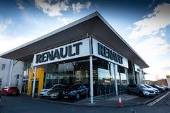 Marschera 8th, 2018, kork, Irland - Kearys Renault bilåterförsäljare royaltyfria bilder