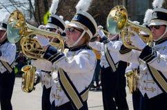 Marschierendes bandin eine Parade Lizenzfreies Stockfoto
