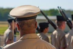 Marschmilitär Royaltyfri Foto