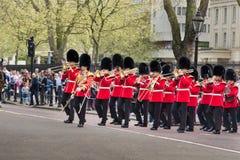 Marschmusikband Royaltyfri Bild