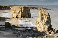 Marsden Bay rocks stock photos