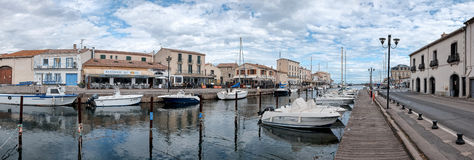 Marseillan. France - March 27, 2016: Situated in southern France in the department of Hérault is a Mediterranean city with a historic core . The city has 2 royalty free stock photos