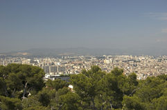 Marseille. View from Notre-Dame de la Garde on Marseille Royalty Free Stock Photography