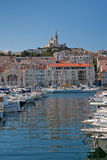 Marseille. Notre dame de la garde in marseille, france Royalty Free Stock Photos