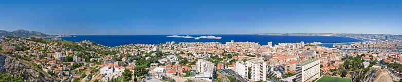 Marseille. Ovverall panorama view of marseille, france Stock Image