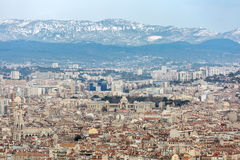 Marseille aerial view France Stock Photography