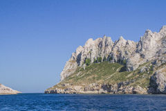In the Marseille bay. An island in the bay of Marseille in Provence Stock Images