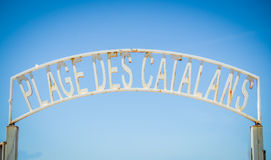 Marseille Beach Sign Royalty Free Stock Photos