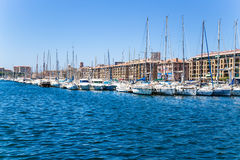 Marseille. Boats and yachts at moorings of Old Port Stock Images