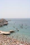 Marseille busy beach Stock Photo