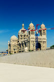 Marseille Cathedral with crane Royalty Free Stock Image