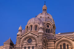 Marseille Cathedral at evening Stock Photography