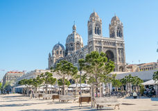 Marseille Cathedral, large catholic church Royalty Free Stock Photos