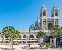 Marseille Cathedral, large catholic church Stock Photos