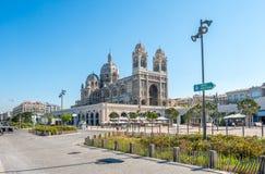 Marseille Cathedral, large catholic church Stock Image