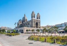 Marseille Cathedral, large catholic church Stock Photo