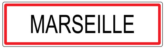 Marseille city traffic sign illustration in France Royalty Free Stock Photography