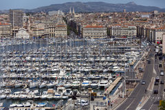 Marseille - Cote d'Azur - South of France. The Vieux Port of Marseille on the Cote d'Azur in the South of France Stock Photography