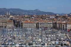 Marseille - French Riviera - South of France. The Vieux Port area of the city of Marseille in the Cote dAzur region of the South of France Royalty Free Stock Photo