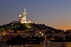 Marseille at dusk Stock Photography