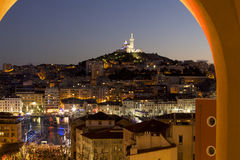 Marseille at dusk Stock Images