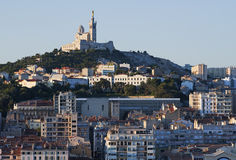 Marseille en Provence in  South France. Marseille in South France in the Morning Royalty Free Stock Photo