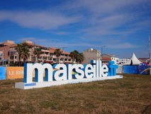 Marseille fanzon Arkivbild