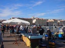 Marseille fiskmarknad Fotografering för Bildbyråer