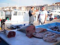 Marseille fiskmarknad Royaltyfria Foton