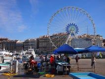 Marseille fiskmarknad Royaltyfri Fotografi