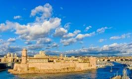 Marseille fort St-Jean royaltyfri foto