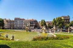 Marseille, France. Big Pond At The Bottom Of The Palace Longchamp Royalty Free Stock Images