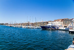 Marseille, France. Boats and yachts in the old port stock image