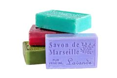 MARSEILLE, FRANCE - CIRCA JULY 2014: Herbs soap from the Provenc Royalty Free Stock Photos