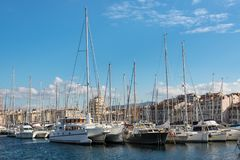 The Old Port of Marseille in the South of France Royalty Free Stock Photos