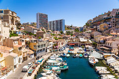 Marseille, France. Fishing port of Vallon des Auffes royalty free stock photography