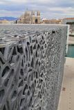Marseille France. Summer 2018. MuCEM and cathedral. Stock Photo