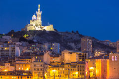 Marseille France night Royalty Free Stock Image