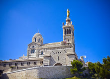 Marseille, France. Notre-Dame de la Garde basilica in Marseille, France Stock Photography