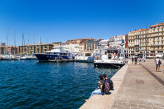 Marseille, France. Pier in the Old Port Stock Photo